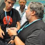 Nos tomamos unos refrescos con Wozniak en la sala VIP #CPValencia 11