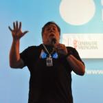 Nos tomamos unos refrescos con Wozniak en la sala VIP #CPValencia 20