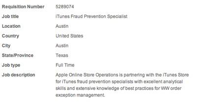 Apple estuvo buscando un especialista para evitar fraudes en la tiendas en línea de la compañía 3