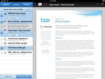 Box.net se actualiza para dar soporte a iOS 4 y al acceso fuera de línea 3