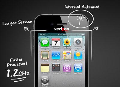 """Rumor: El iPhone de Verizon tendría antena interna, pantalla de 3.7"""" Pulgadas y procesador de 1.2 GHz 3"""