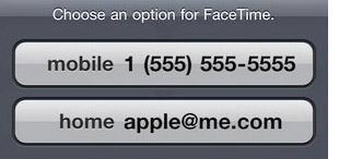 El iOS 4.1 Beta 3 habilita llamadas de FaceTime basadas en la dirección de correo electrónico 3