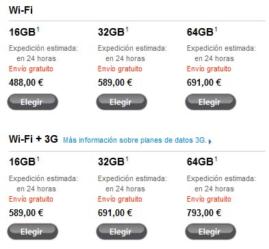 Los tiempos de expedición de los pedidos del iPad en las Apple Store se ha reducido a 24 horas 3