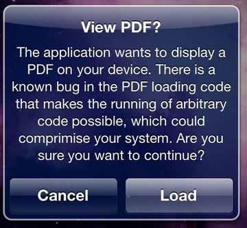 JailbreakMe utiliza un agujero de seguridad de documentos PDF 3