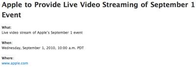 Apple transmitirá en directo y vía streaming el evento de hoy 3
