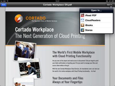Cortado Workplace llega al iPad 3