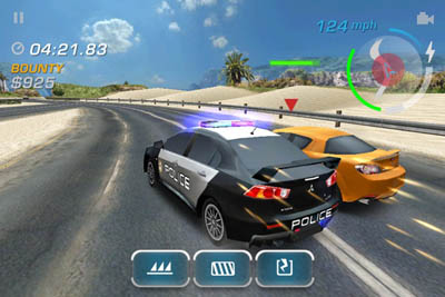 Electronic Arts lanza Need for Spreed: Hor Pursuit para iOS 3