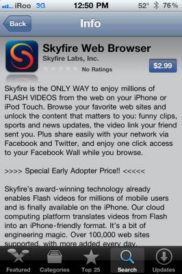 Skyfire regresará a la App Store en 'cantidades limitadas' 3