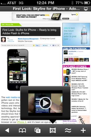 El navegador Skyfire llega a la AppStore... Pero sólo a Estados Unidos 3