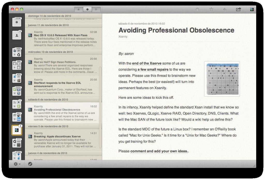 Reeder for Mac, el lector de RSS mas querido, en tu escritorio 6