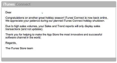 Terminan las vacaciones de iTunes Connect y reinician labores en la iTunes Music Store 3