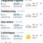 Organiza el viaje a esquiar desde tu iPhone 5