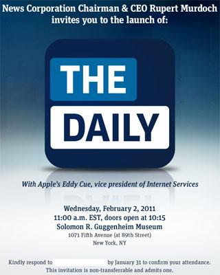 The Daily ya tiene fecha oficial de lanzamiento: 2 de Febrero del 2011 3