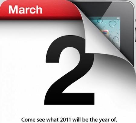 Oficial y confirmado: El 2 de marzo Apple presenta el nuevo iPad 3