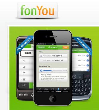 Mobivery desarrolla la aplicación de fonYou para tener gratis dos números en el iPhone 3