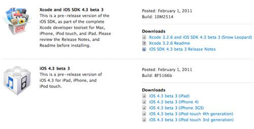 El iOS 4.3 Beta 3 ya está disponible para descarga 3