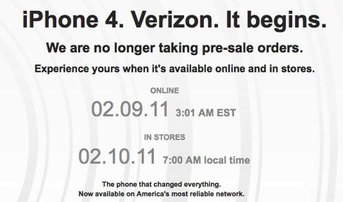 Las reservas del iPhone 4 CDMA de Verizon se agotan en tiempo récord 3