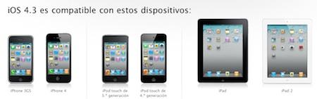 Apple desvela la compatibilidad entre dispositivos y el próximo iOS 4.3 3