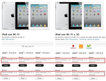 Apple retrasa los envíos de los iPad 2 reservados online 3