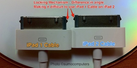 El cable del iPad parece que no es compatible con el iPad 2 3