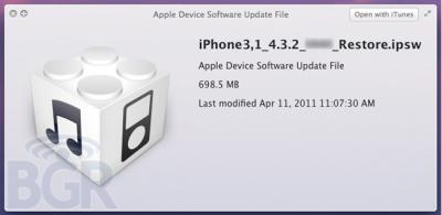 El iOS 4.3.2 corregiría problemas de conectividad en el iPad 2 de Verizon 3