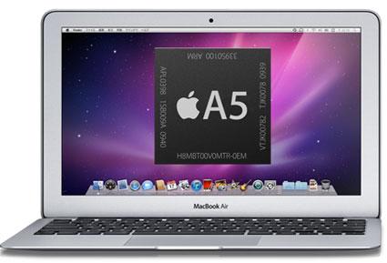 Apple podría estar probando un MacBook Air con el procesador A5 3