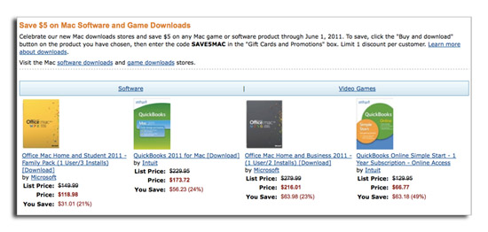 Amazon lanza oficialmente su propia 'Mac Download Store' 3