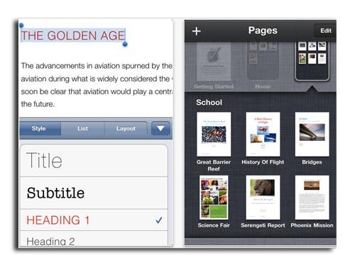 Pages, Keynote y Numbers ya están disponibles para el iPhone y para el iPod touch 3