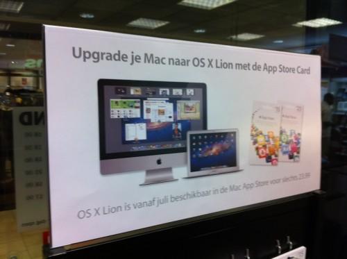 Comienza a aparecer publicidad de Mac OS X Lion en diversos distribuidores autorizados de Apple alrededor del mundo 3