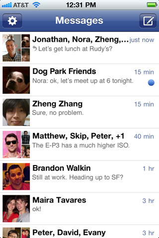 Facebook Messenger para iOS disponible en la App Store 3