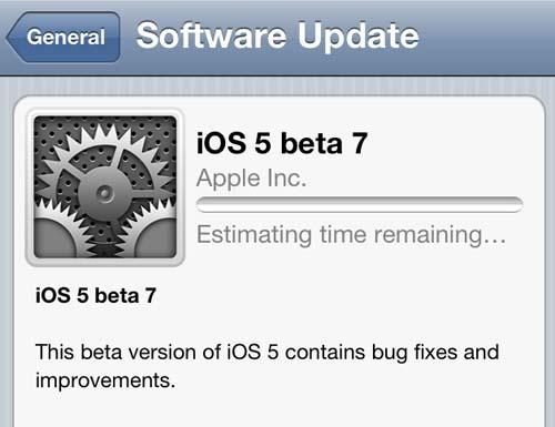 Apple pone disponible el iOS 5 Beta 7 3