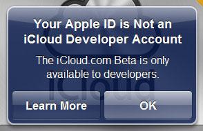 iCloud.com ya está disponible en versión Beta para desarrolladores 8