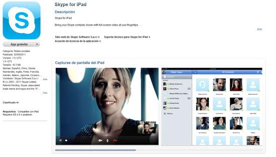 Skype para el iPad ya está disponible para descarga en el App Store 3