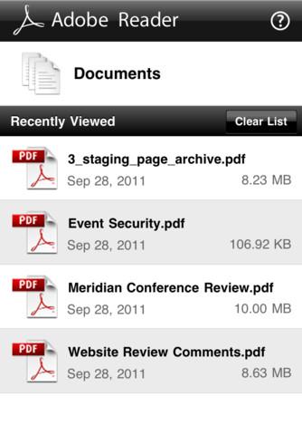 Adobe lanza el Reader para iOS 3