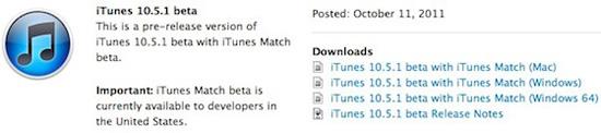 La Beta del iTunes 10.5.1 ya está disponible para los desarrolladores 3