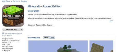 Minecraft Pocket Edition disponible para iOS 3