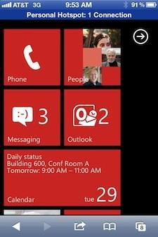 Probar Windows Phone en iOS 3