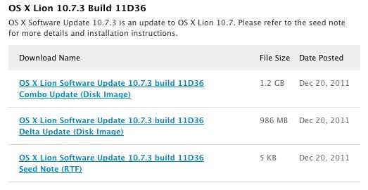 Apple distribuye la Build 11D36 del Mac OS X 10.7.3 entre los desarrolladores 3
