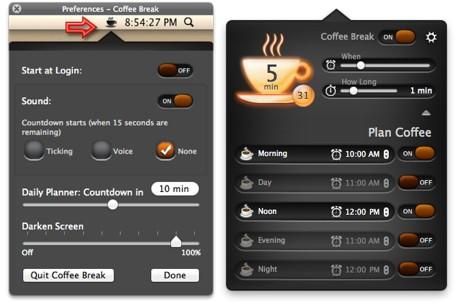 Tómate un respiro con la app para Mac Coffee Break 3