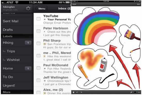 GMail para iOS actualizada para añadir nuevas características 3
