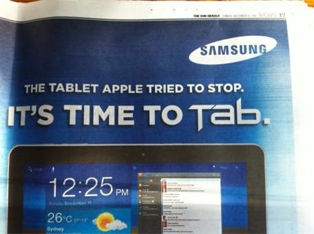 Samsung cita en su publicidad a Apple 3