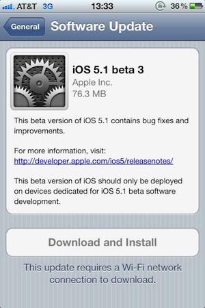 iOS 5.1 Beta 3 ya está disponible para descarga 3