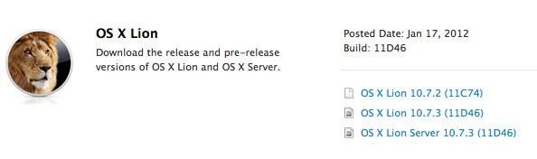 Apple distribuye la Build 11D46 de Mac OS X 10.7.3 entre los desarrolladores 3