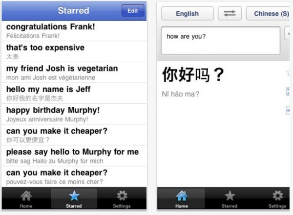 Google Translate iPad