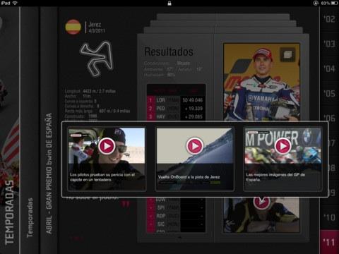 MotoGP History para iOS lanza versión en español 3