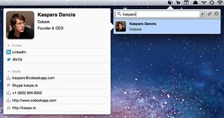 Cobook: una alternativa a la libreta de direcciones de tu Mac 3
