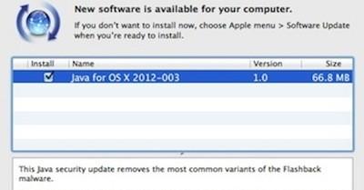 Apple soluciona el problema del virus Flashaback: Java para OS X 2012-003 3