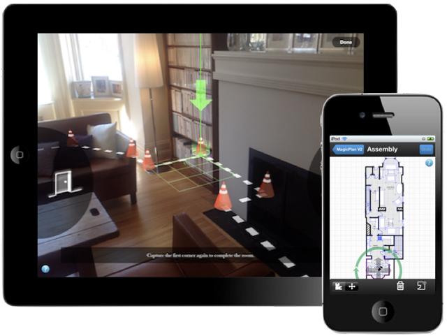 Aplicación iOS para crear planos gratis usando realidad aumentada 3