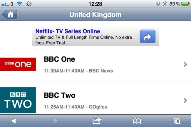 Aplicación que convierte tu iPhone en una televisión: iOSLiveTV 3