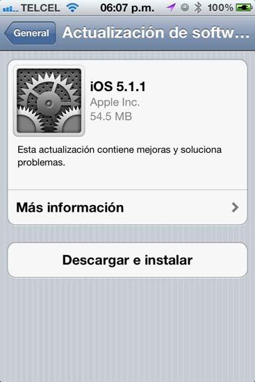 Apple libera el iOS 5.1.1 3